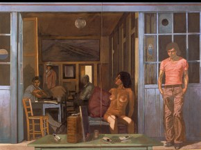 Vermeer's coffe house II, oil on canvas, 150x186 cm, 1975I, acrylic on canvas, 122x202 cm, 1976