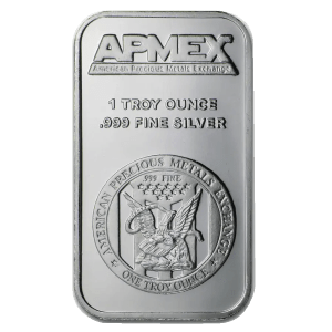 1 ounce silver bar apmex