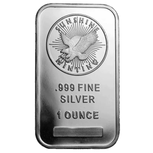 1 ounce silver bar sunshine mint