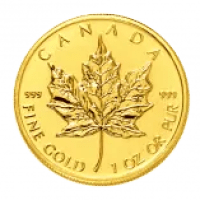 gold maple leaf coin .999 (3 nine pure)