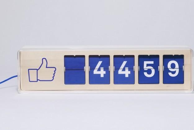 Facebook likes teller voor in de winkel