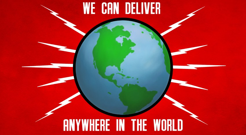 We'll deliver your Gerry Anderson t-shirt anywhere in the world