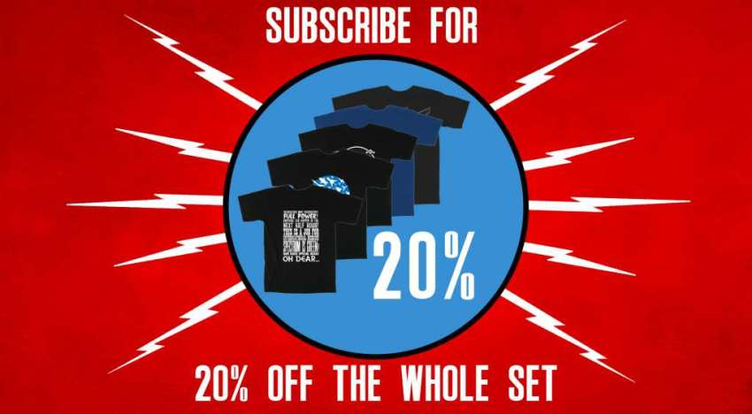 Subscribe to save money on the monthly Gerry Anderson t-shirt
