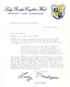 Lady Penelope investigates and writes back!