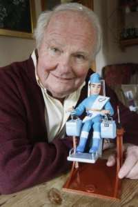 Shane Rimmer and Scott Tracy
