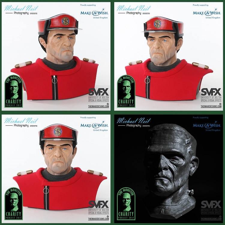 Monster Charity Captain Scarlet Bust