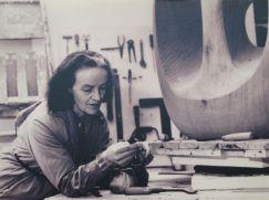 Barbara Hepworth in her studio