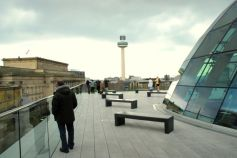 The rooftop terrace