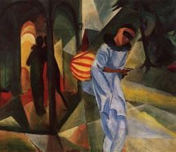 August Macke, Pierrot, 1913,