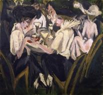 Ernst Ludwig Kirchner, In the Cafe Garden, 1914