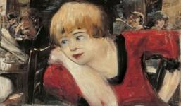Lesser Ury, Romanisches Café. Woman in Red, 1911