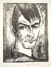 Otto Mueller, Self-Portrait Looking Right, 1921