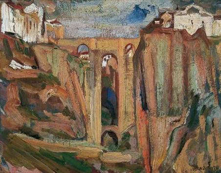 David Bomberg, Ronda Bridge, 1935