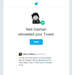 Neil Gaiman Retweet