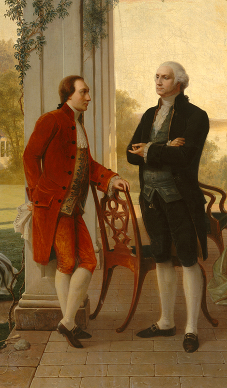 Washington and Lafayette at Mount Vernon.