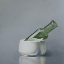 Cup with Green Bottle