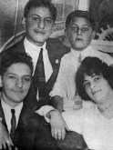 L-R:Brothers Ira, George, & Arthur Gershwin with their cousin Rose Lagowitz at Brighton Beach, 1912.