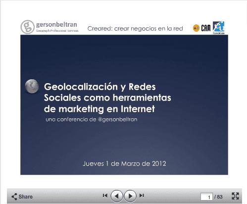 Geolocalización y Redes Sociales gersonbeltran