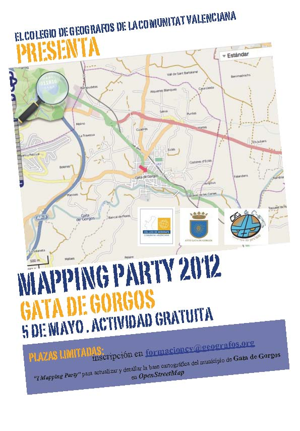 Cartel Mapping Party Geografos Valencia