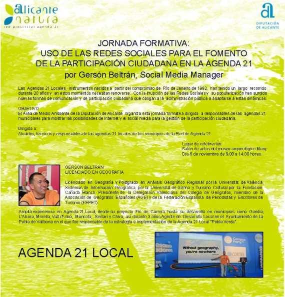 Jornada Formativa en Redes Sociales para la Agenda 21