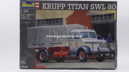 Revell 07559 Krupp Titan SWL 80 ( originele fabriekzegels ) Revell Bouwdozen 07559