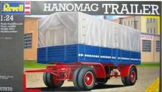 Revell 07570 HANOMAG AANHANGWAGEN > OUTLET > zonder doos; lees omschrijving BOUWDOZEN OPLEGGERS EN AANHANGWAGENS aanhangwagen