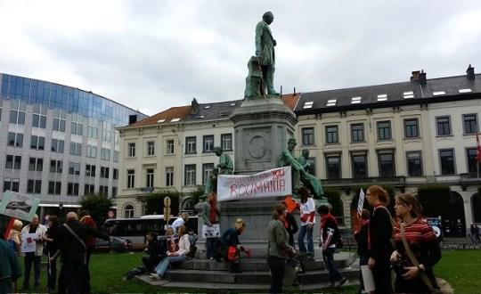 Spandoeken op Place du Luxembourg.