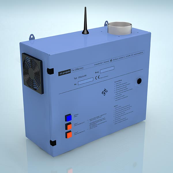 Olfaktor GSM zur Diffusion von ätherischen Duftölen und / oder SinoAir Geruchsvernichter