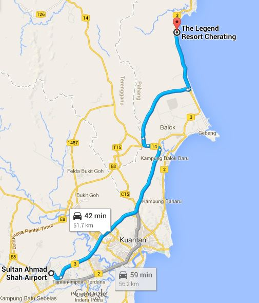 0009 map from airport to legend hotel
