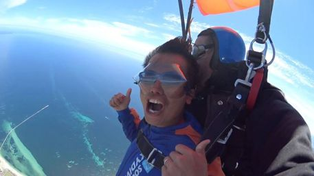 Haha... when the parachute open, my first word was Shiok ah! Donno if the angmo can understand a not... haha