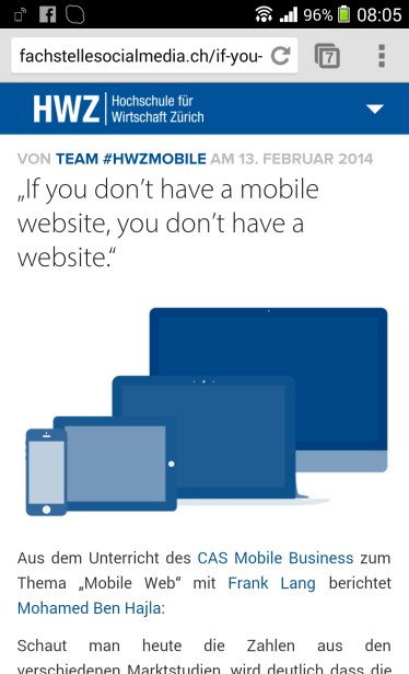 If you don't have a mobile website you don't have a website