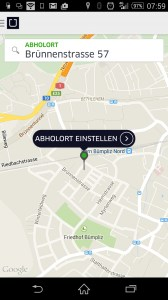 Screenshot UBER App
