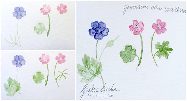 Botanik für Künstler – Wie kann floristisches Wissen Deinen Zeichnungen und Aquarellen helfen kann , Blumen malen, Aquarell| Gesche Santen Blog