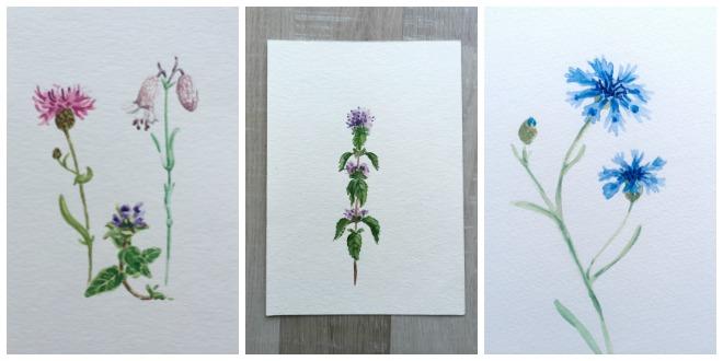 Collage-Aquarelle-Fortschritt-üben-lernen