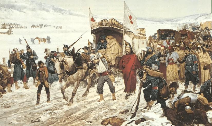 Edouard Castres, Bourbaki-Panorama, 1881; Quelle: Wikipedia
