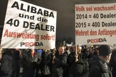 Pegida-Demonstration, Dresden 2014, Quelle: daserste.ndr.de