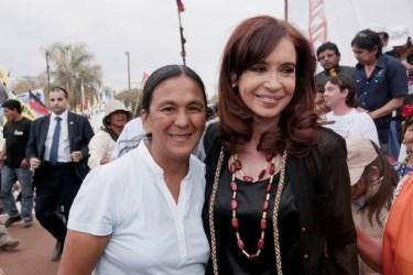 Im Visier der Justiz: Ex-Präsidentin Cristina Kircher und Indigenen-Aktivistin Milagro Sala; Quelle: colectivoepprosario.blogspot.ch
