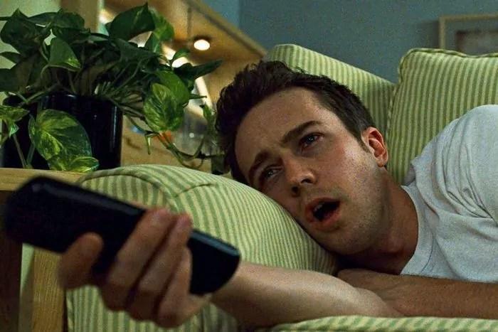 """Edward Norton vor dem Bildschirm: """"Fight Club"""" (1999)"""