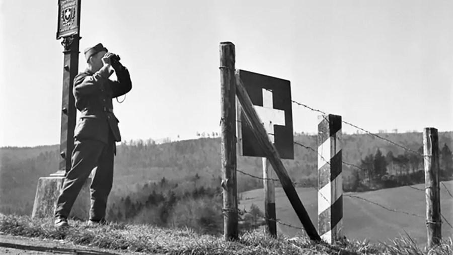Grenzwache bei Schaffhausen, Zweiter Weltkrieg [ohne Jahr]; Quelle: srf.ch