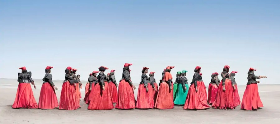 Jim Naughten: Herero Women Marching (2012) (c) Jim Naughten, courtesy of Klompching Gallery, New York