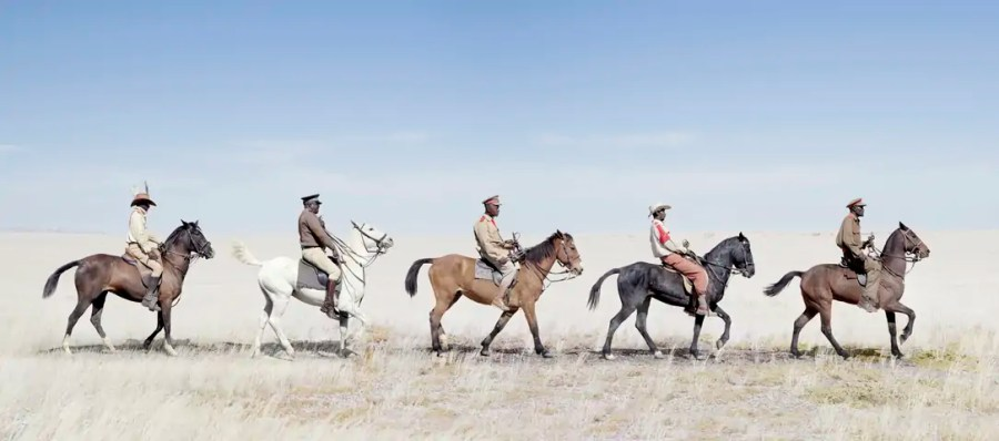 Jim Naughten: Herero Cavalry Marching (2012) (c) Jim Naughten, courtesy of Klompching Gallery, New York