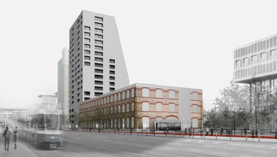 Hochhaus mit Luxuswohnungen an der Hardturmstrasse in Zürich, Quelle: skyscrapercity.com