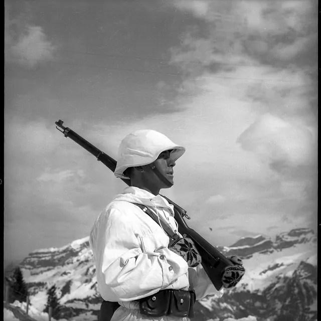 Schweizer Gebirgssoldat, um 1940; Quelle: swissinfo.ch