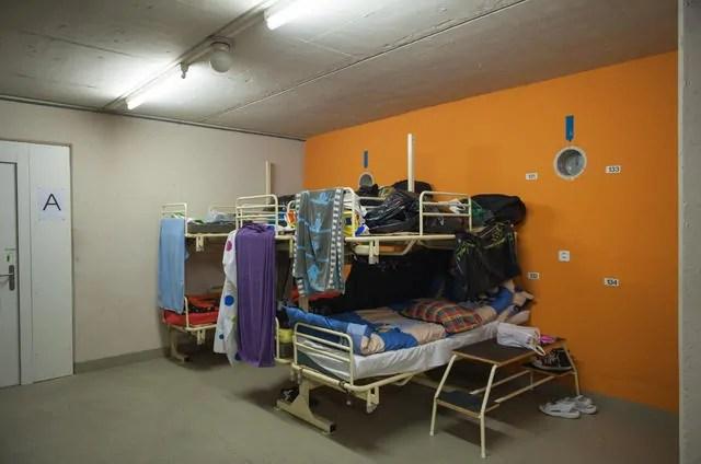 Asylunterkunft in Zivilschutzbunker, Luzern; Quelle: luzernerzeitung.ch