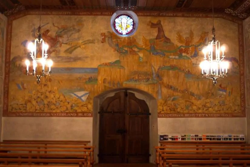 Flüeli Ranft, untere Kapelle, Wandbild von Albrecht Durrer, 1921; quelle: flickr.com