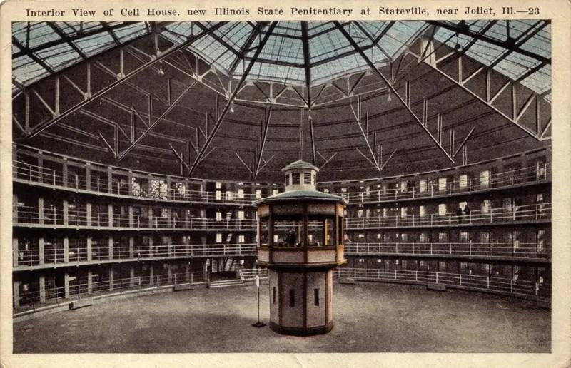Panoptische Gefängnisanlage, Postkarte; Quelle: e-ir.info