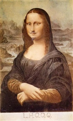 "Marcel Duchamp: ""L.H.O.O.Q, Mona Lisa With Moustache"" (1919), Quelle: www.wikiart.org"