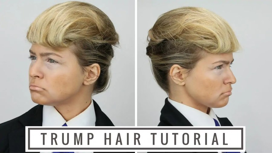 Trump hair tutorial; Quelle: YouTube.com