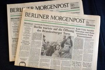 """""""Berliner Morgenpost"""", früher vom Springer-Verlag herausgegeben, 2013 an die Funke-Mediengruppe verkauft. Foto: Ulrich Horb"""