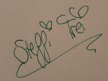 Signtur von Steffi Frei